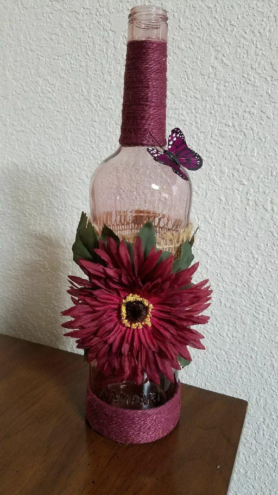 Tinted Wine Colored Bottle Wine Bottle Diy Crafts Bottles Decoration Wine Bottle Crafts