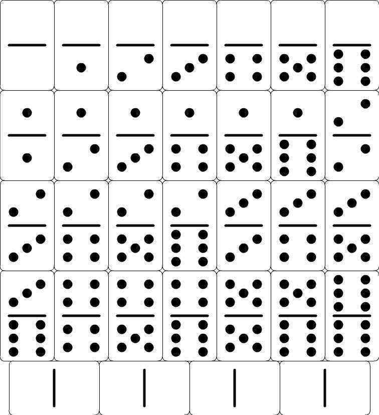 Домино картинки для математики, днем рождения