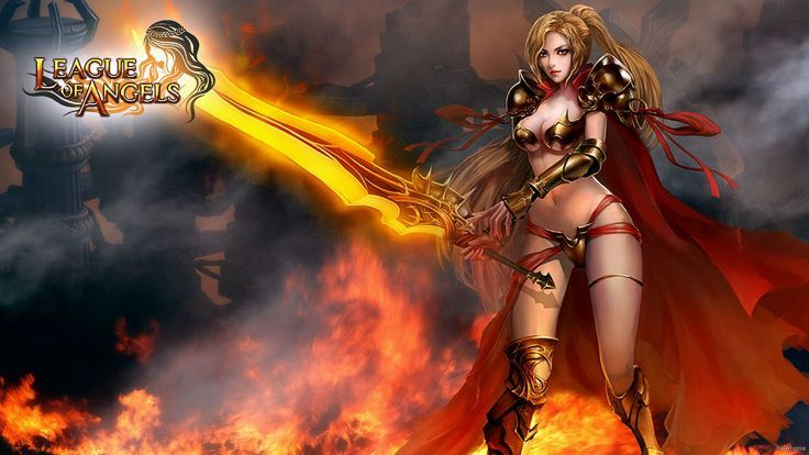 LEAGUE OF ANGELS Fantasy Angel Warrior League Angels Game Loa 21 Wallpaper Background