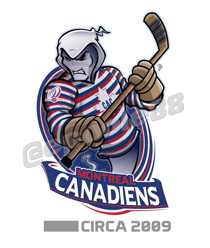 A ghost wears the 2009 Montreal Canadiens jersey complete with the team's centennial anniversary patch. #NHL #MontrealCanadiens