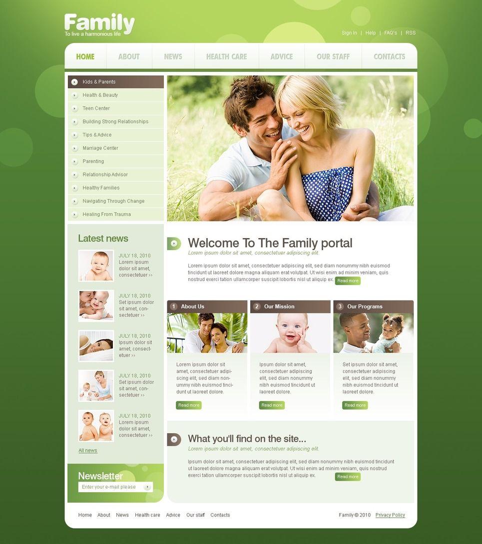 Happy Family Website Templates by Hinoriko | Family & Baby Store ...