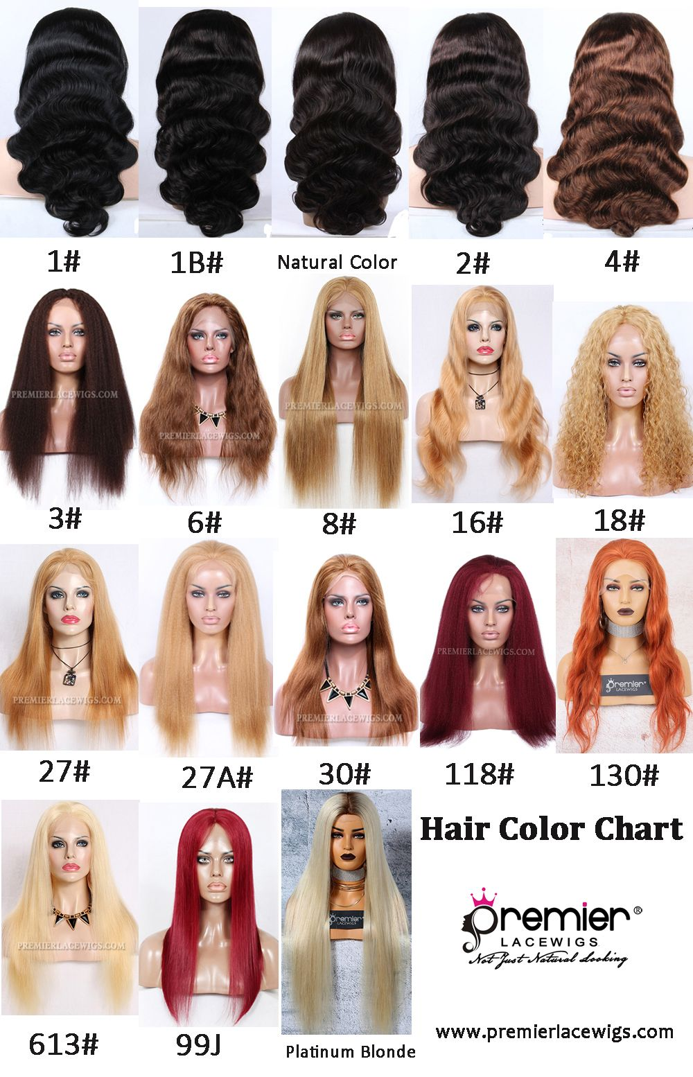 Hair Color Chart For Human Hair Wigs Hair Color Chart Lace Wigs Hair Color