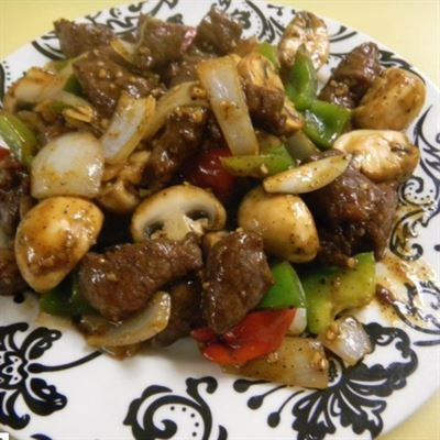 Black Pepper Beef Mignon Chunks Of Tender Beef Quick Stirred In Black Pepper Sauce Served With Steamed Rice Substitute Br Food Lunch Recipes Stuffed Peppers