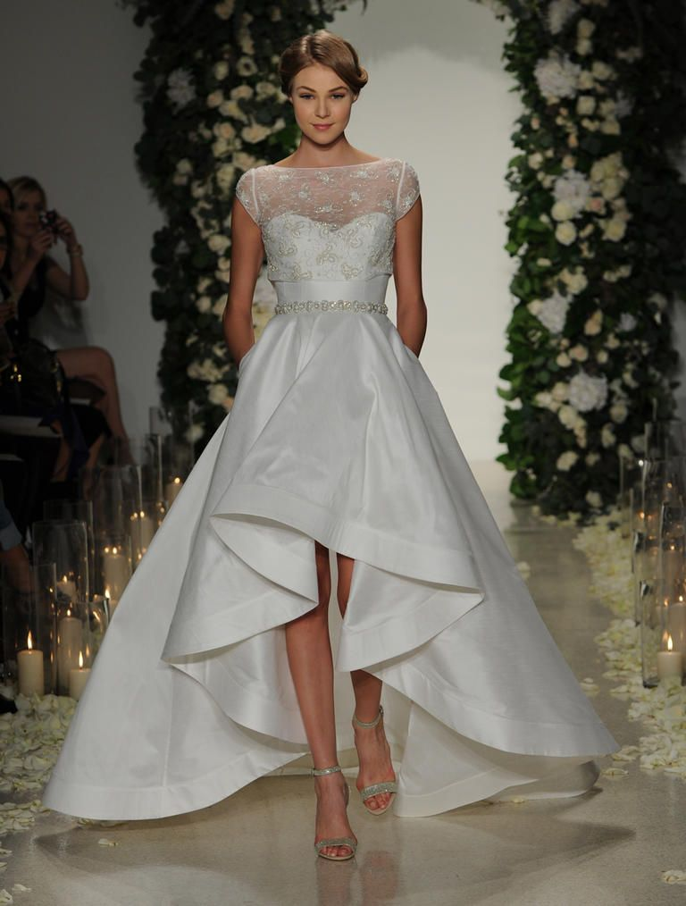 Get the Look: Whitney Port\'s Chic High-Low Wedding Dress | Outside ...