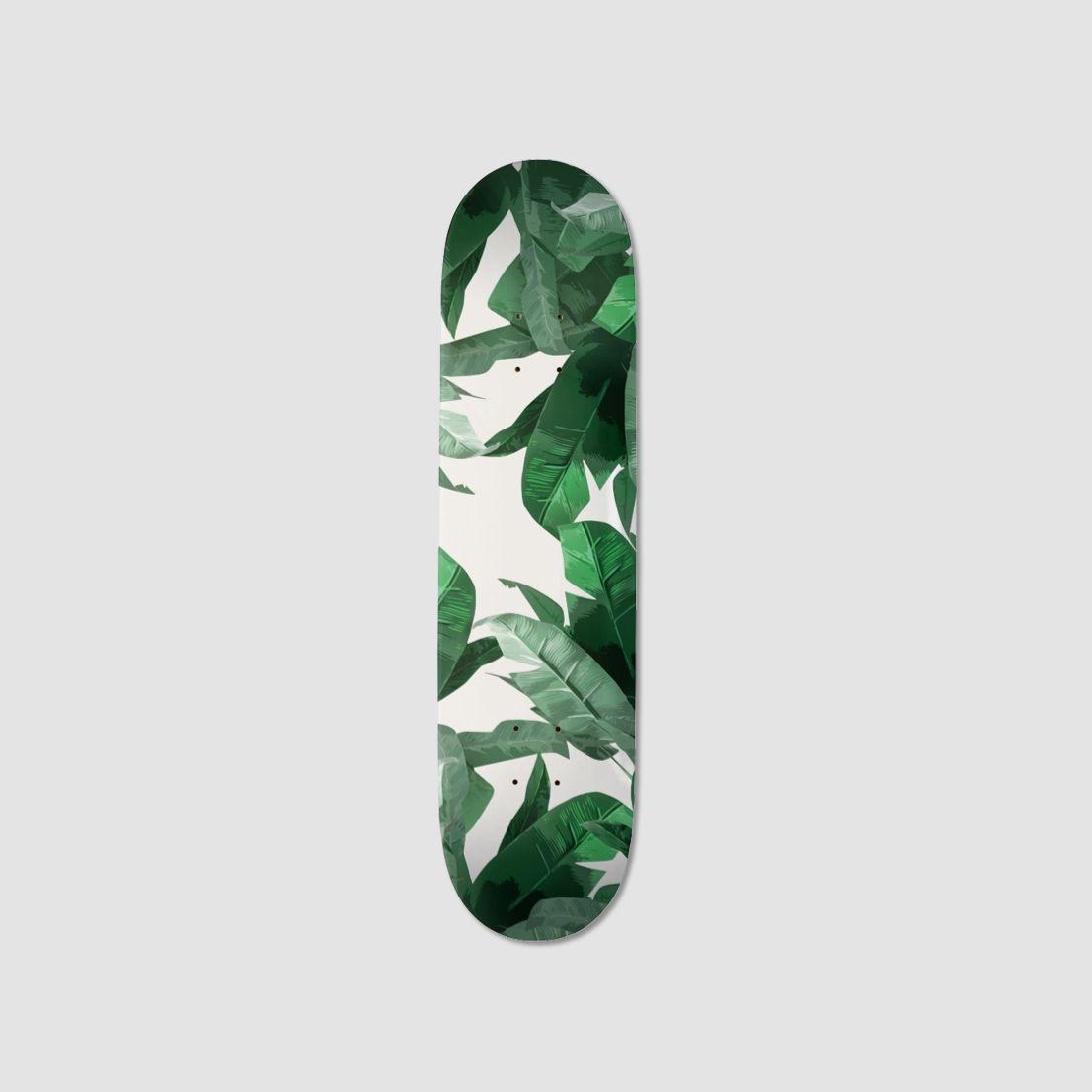 Tropical Palm Banana Leaf Skateboard Fox And Eagle Skateboard Skateboard Design Banana Leaf