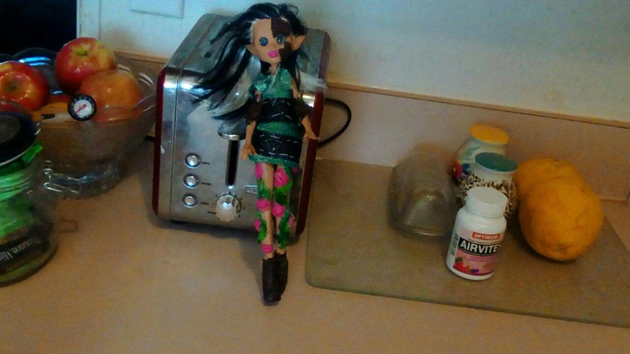 Irish wood elf named Shimmer Glimmer. Custom repaint and