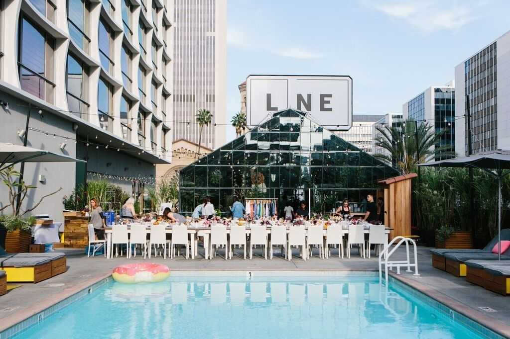 The Line Hotel Koreatown Los Angeles California United States Venue Report Hotel California Venues Pool Deck