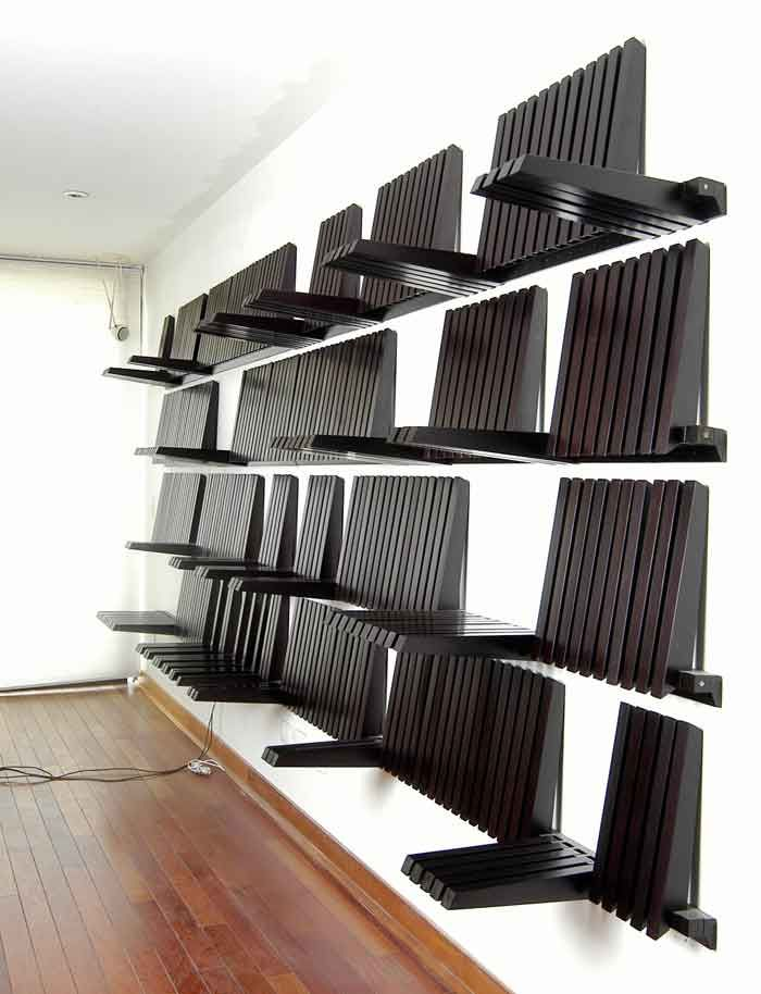Piano Shelf Convertible Wooden Wall