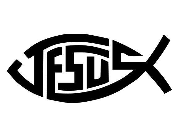 Jesus Fish Decal Jesus Fish Bumper Sticker Christian Fish Symbol