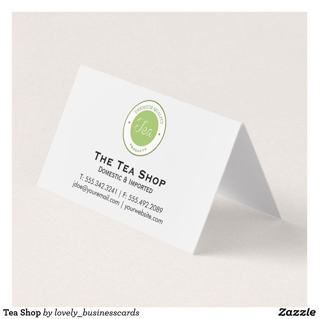 Tea Shop Business Card Zazzle Com Tea Shop Tea Sellers Folded Business Cards