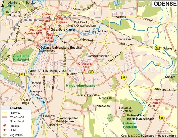 Map of Odense Germany httpwwwmapsofworldcomdenmarkdenmark
