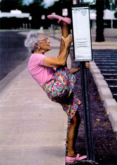 Seriously I couldn't even do that right now...You go grandma!