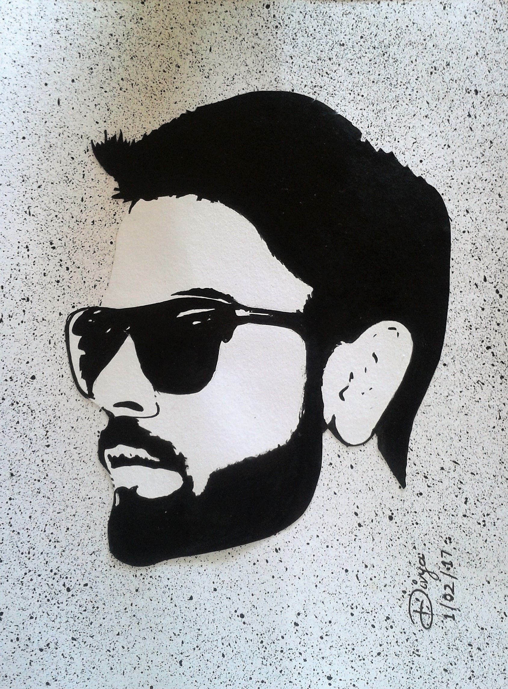 Virat Kohli Easy Pencil Skach Pic Black And White