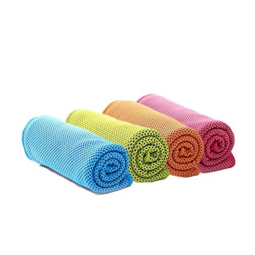 4 Packs Cooling Towel 40x 12 Ice Towel Microfiber Towel Soft Breathable Chilly Towel For Yoga Sport Gym Workout Ca