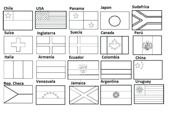 Banderas Del Mundo Para Colorear Bandera Para Colorear Banderas De Europa Mundo Para Colorear