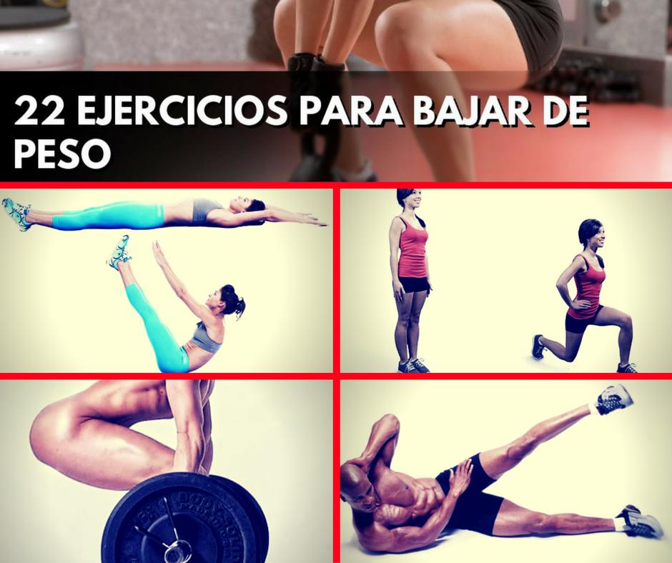 maneras de bajar de peso hombres con ejercicios