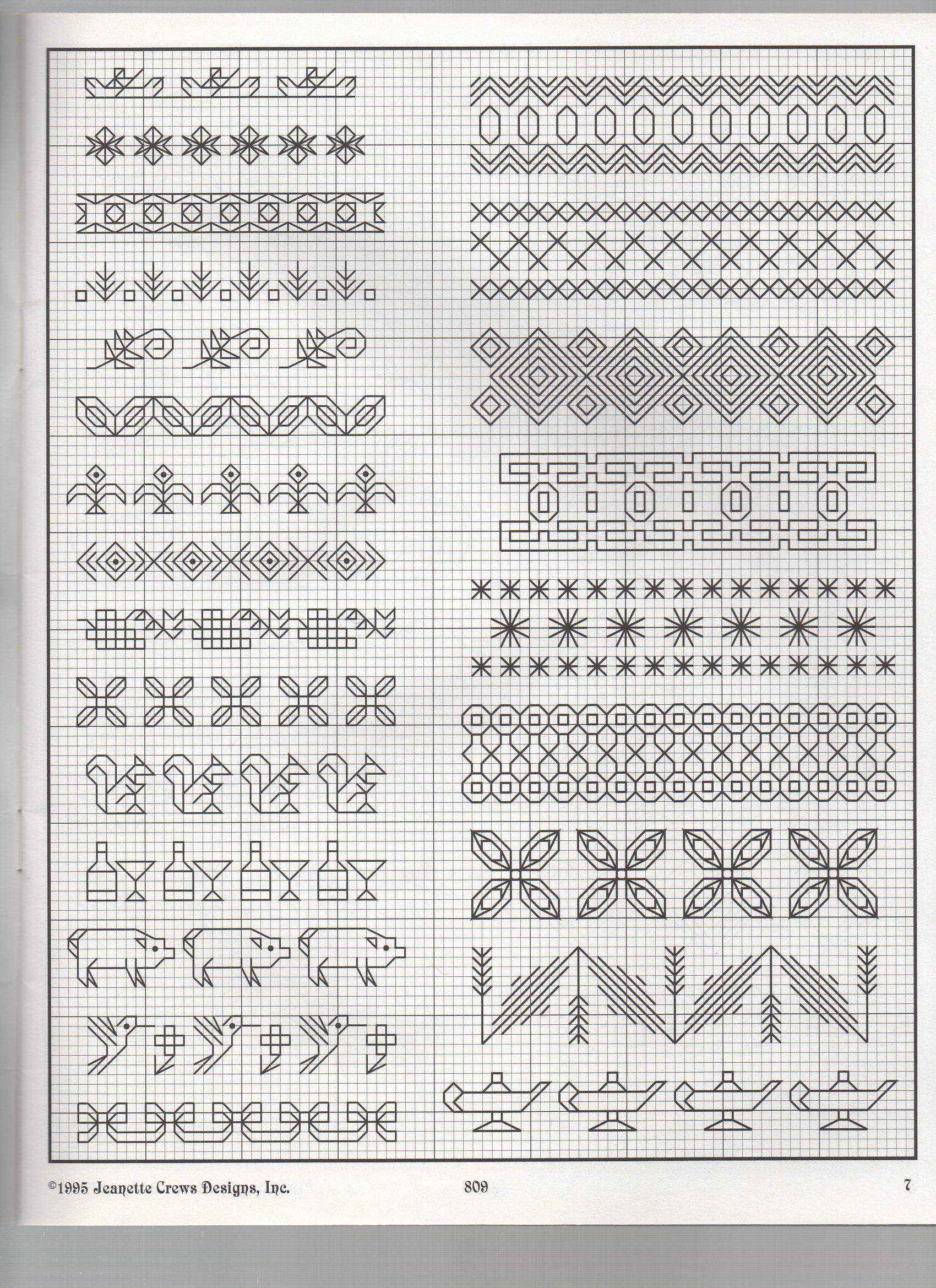 Back Stitch Embroidery On Knitting : BACKSTITCH BORDERS Black work Pinterest Blackwork, Cross stitch and Stitch