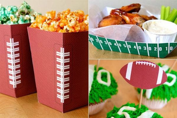 Use free football-themed printables to spice up table decor.
