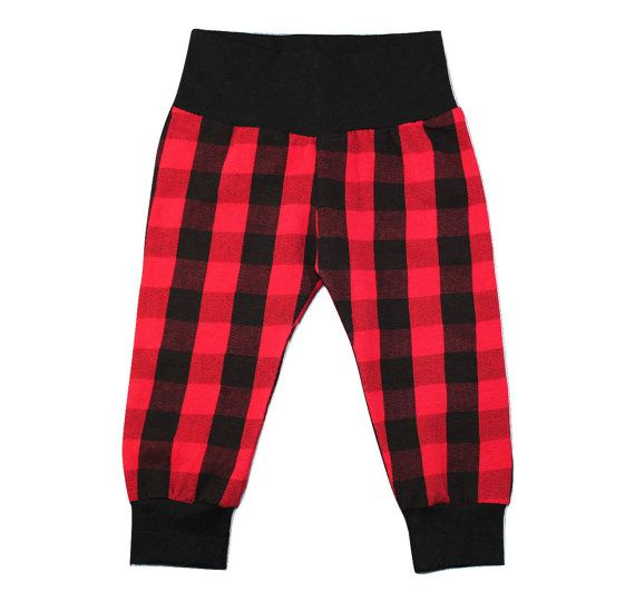 c0e4f63489ec1 Red Buffalo Plaid Leggings Baby Toddler Girl by YetiBearBoutique ...