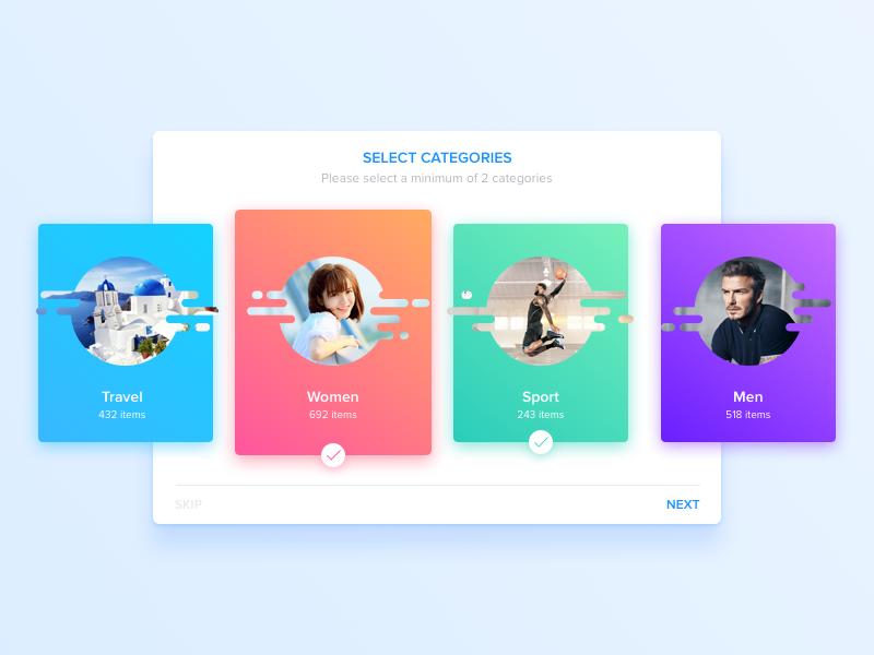 Select Categories The Selection Wave Design Card Design