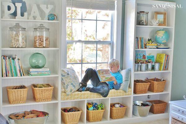 Playroom storage ideas decorating built ins in 2018 for Kinderspielzimmer einrichten