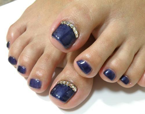 Reverse Cute Toe Nails Blue Toe Nails Toe Nail Designs