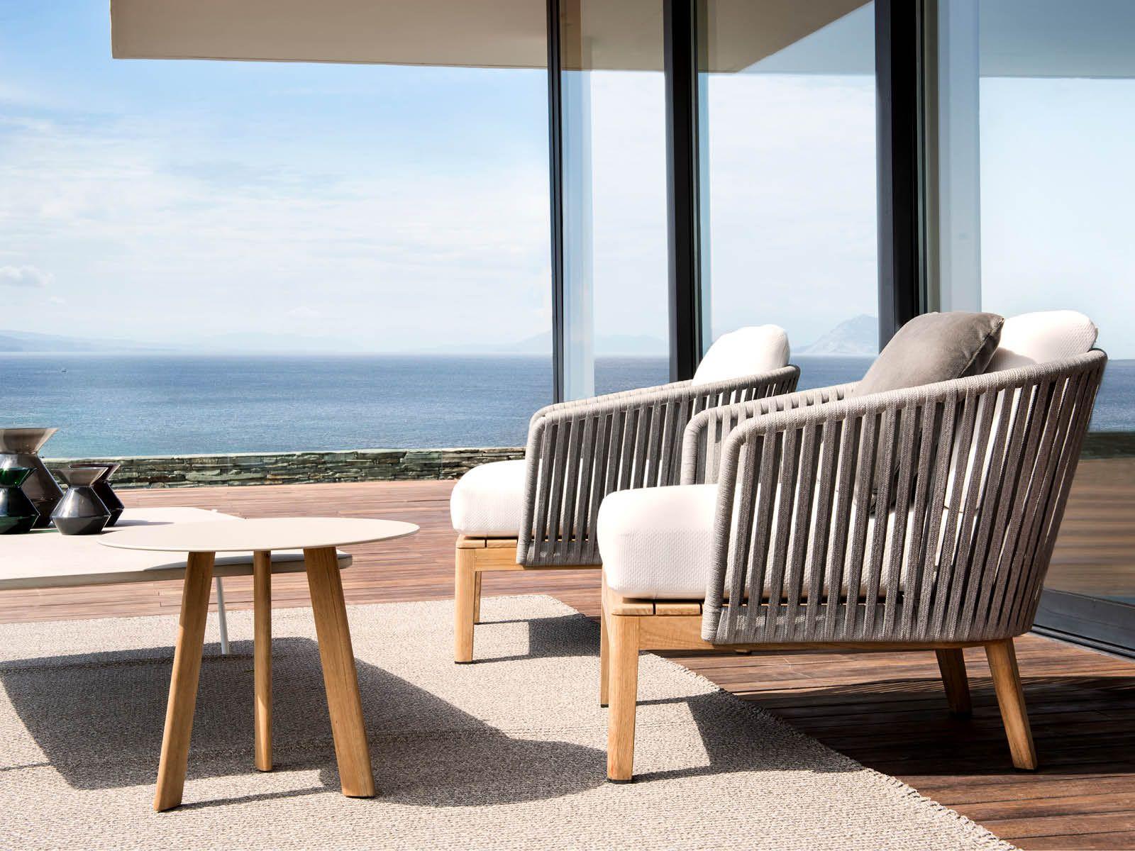Kettal Cala Lounge Chair Teak Leg Outdoor Commercial