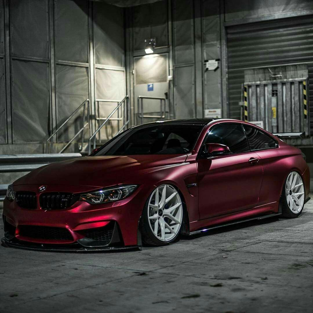 Bmw Z Coupe: BMW Z-Performance F82 M4 Burgundy Slammed