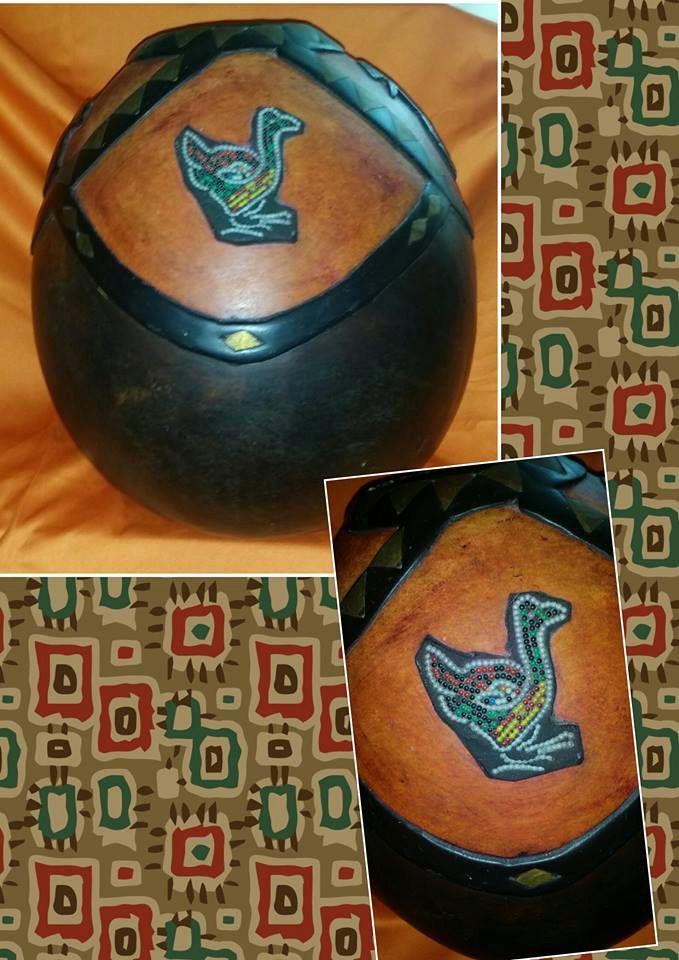 African Calabash Carved Birds Vessel by GypsysHiddenCorner on Etsy