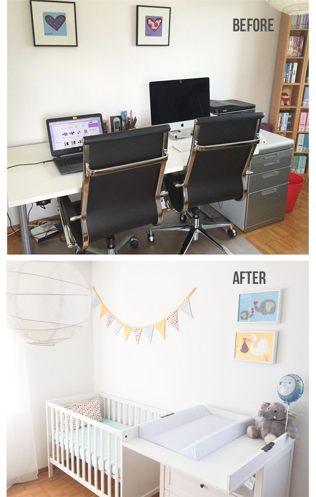 From A Messy Home Office To Cozy Nursery