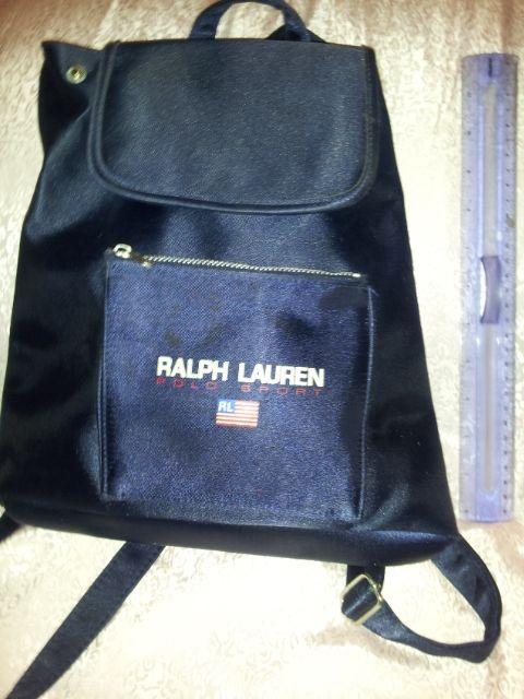 Ralph Lauren Polo Sport Small Backpack Tote Navy Logo White Embroidery purse   Yvonne Farhood. 4b0d316d4e951