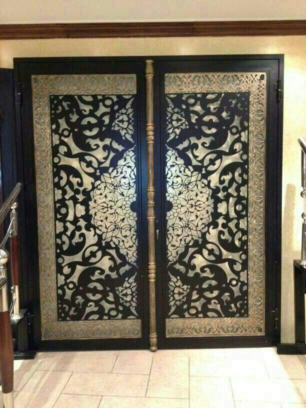 ابواب حديد وزجاج للفيلات ابواب عصرية بتجنن قصر الديكور Iron Doors Door Design Hall Decor