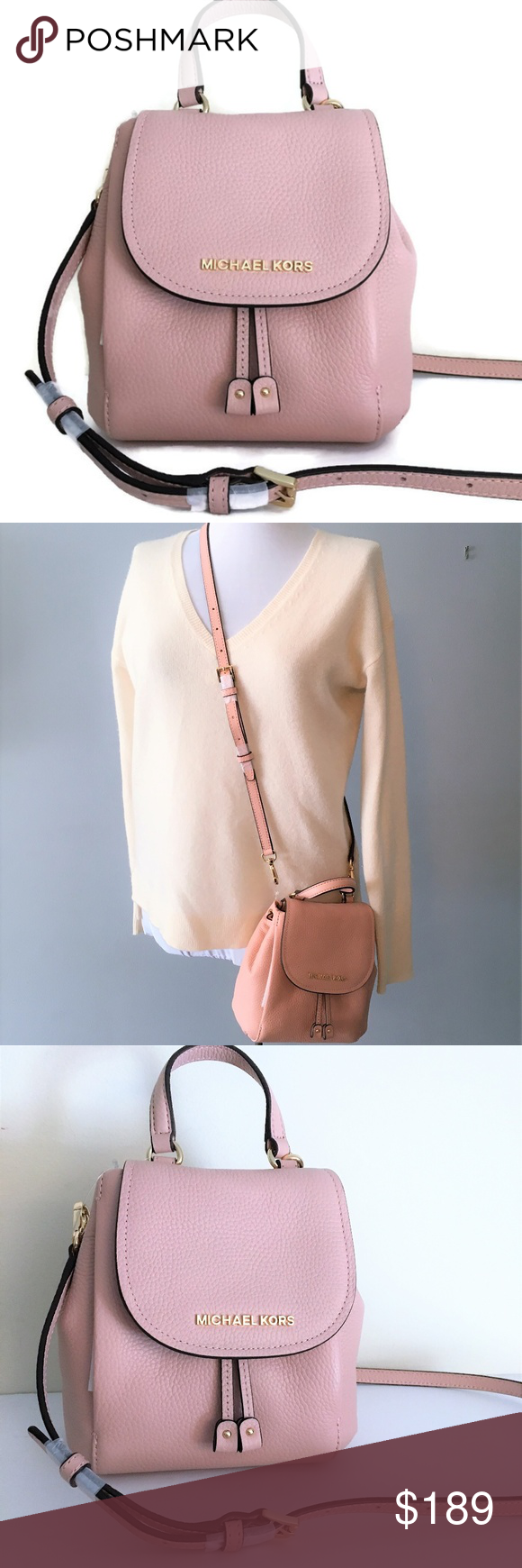 8f0f1592a860b Michael Kors Riley Small Flap Pack ~ Pink Leather This gorgeous Riley Pack  Crossbody from Michael