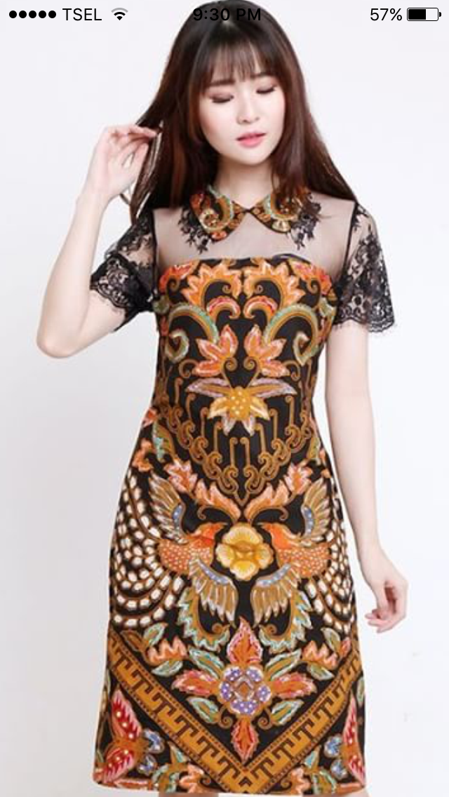 The best batik motif Made perfectly for ladies Dress