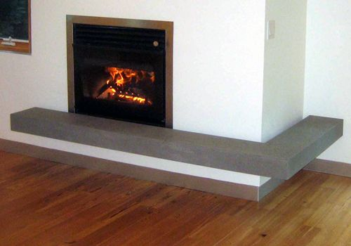 Concrete floating hearth diy pinterest hearths for Concrete mantels and hearths