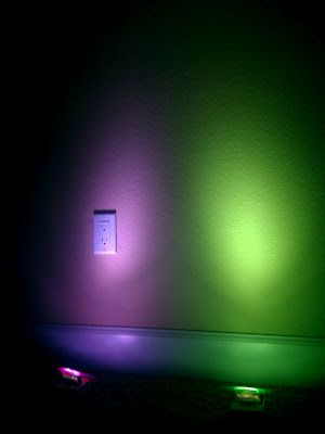 Inexpensive LED Lights Available Online For DIY Uplighting Use Cellophane To Create Color
