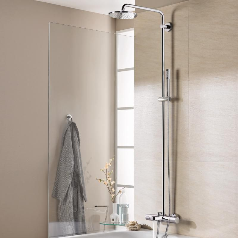 Grohe Rainshower System 210 shower system with exposed bath ...