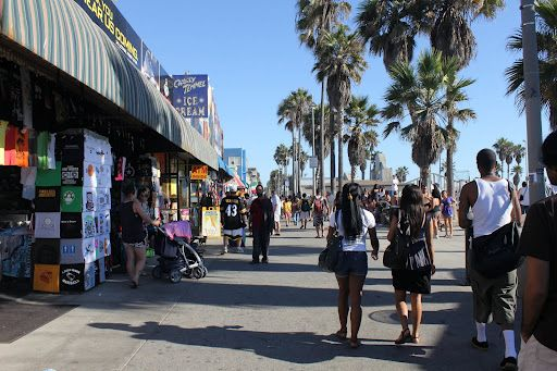 Stroll through the boardwalk in Venice Beach