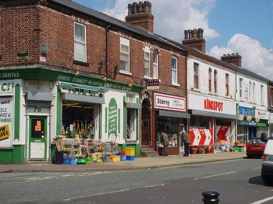 shops on Flixton Road in Urmston including the much loved