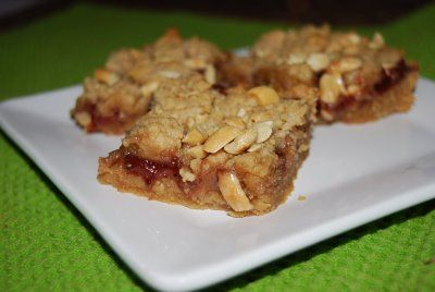 Peanut Butter & Jelly Bars - Macaroni and Cheesecake
