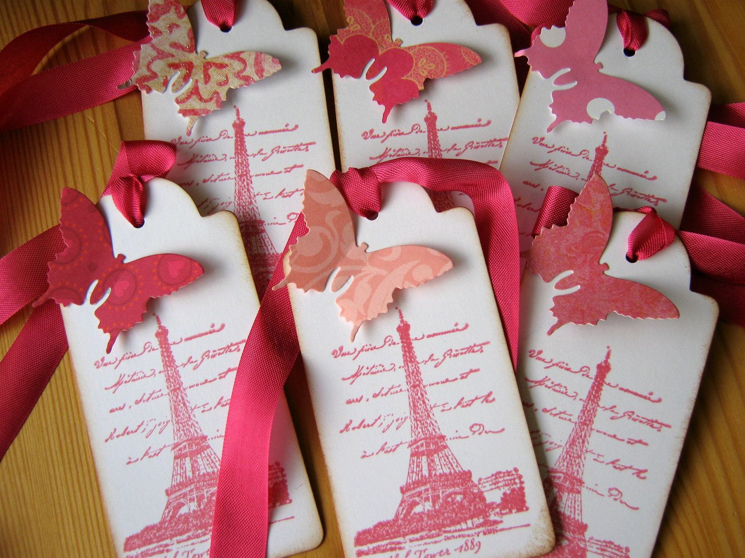 Eiffel Tower, French, Paris Gift Tags, Pink, Butterfly | Pinterest ...