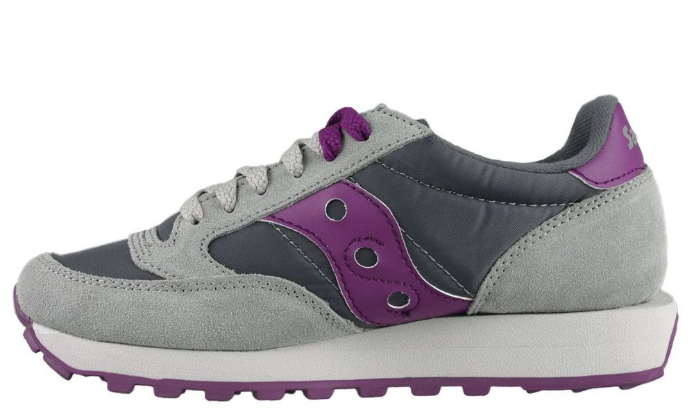 competitive price 2c19f 9ad1d New SAUCONY Women's Jazz Original - Grey/Purple - 1044-155 ...