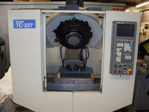 Brother Cnc Drill Tap Machine Center Model Tc 227 Great Condition Mfg 1991 Specifications