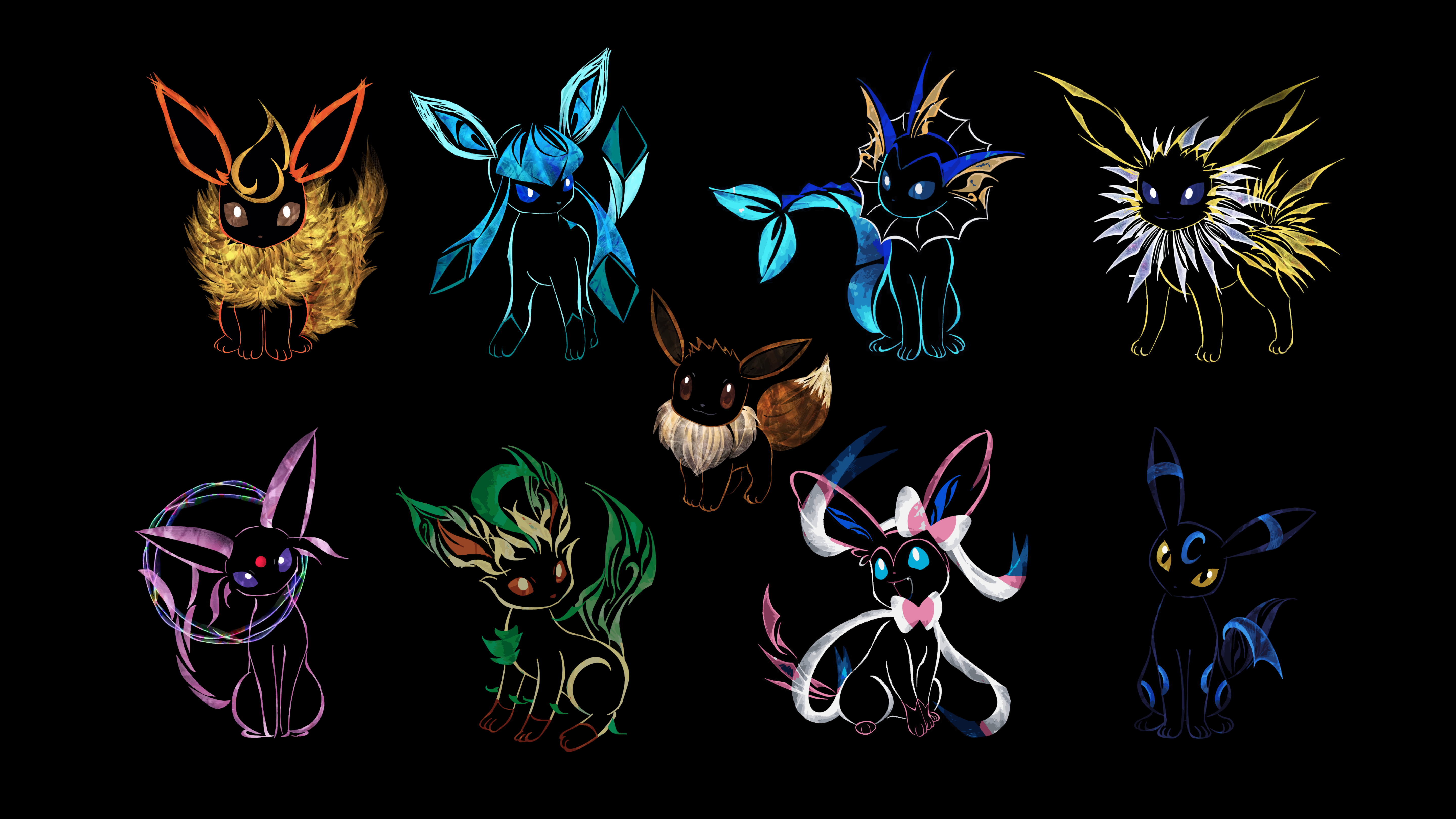 Eevee Wallpaper (1920 x 1080) in 2020 Eevee wallpaper