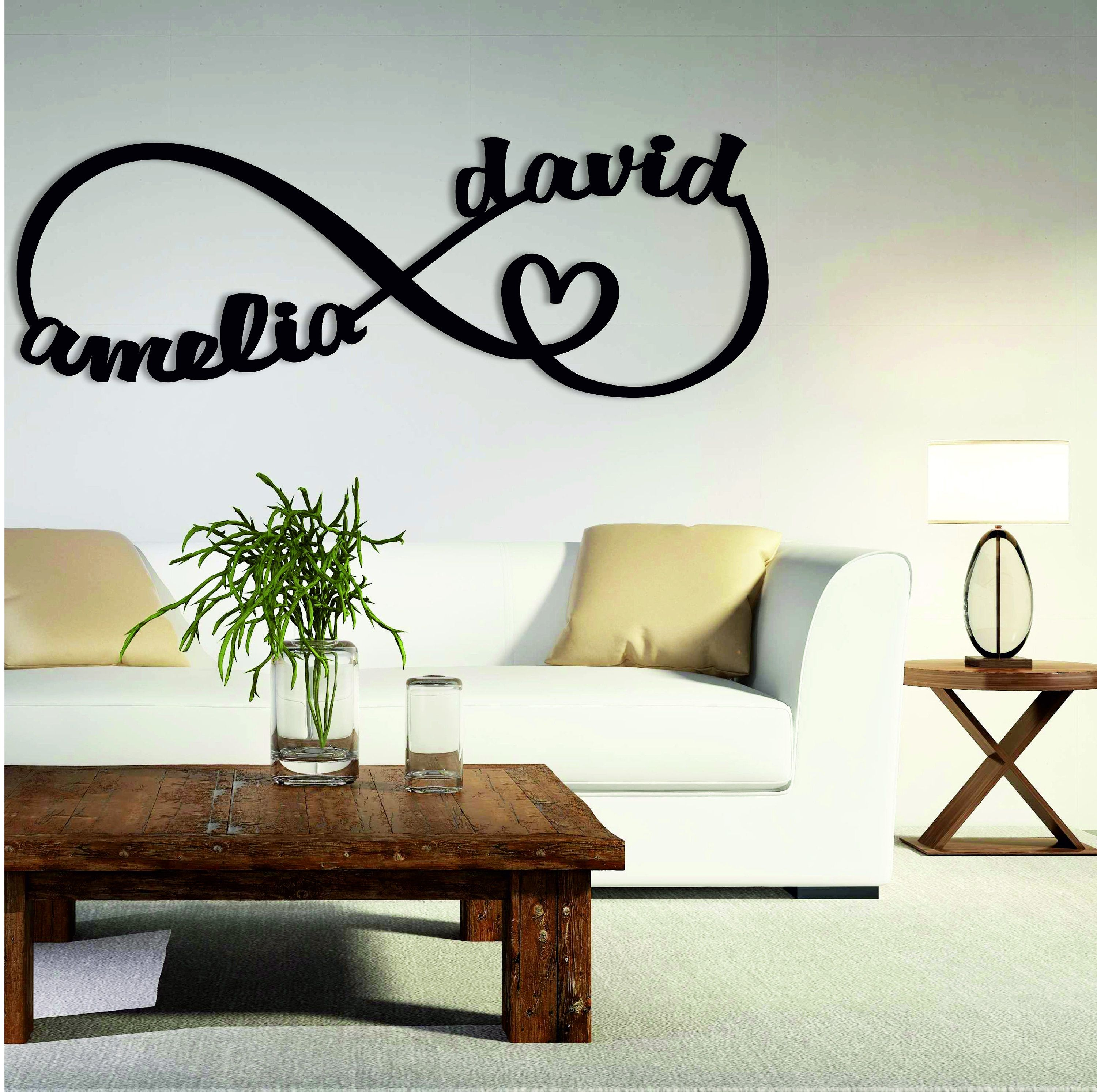 Personalized Infinity Symbol Infinity Sign Name Infinity Etsy In 2021 Metal Wall Art Decor Metal Wall Art Metal Walls