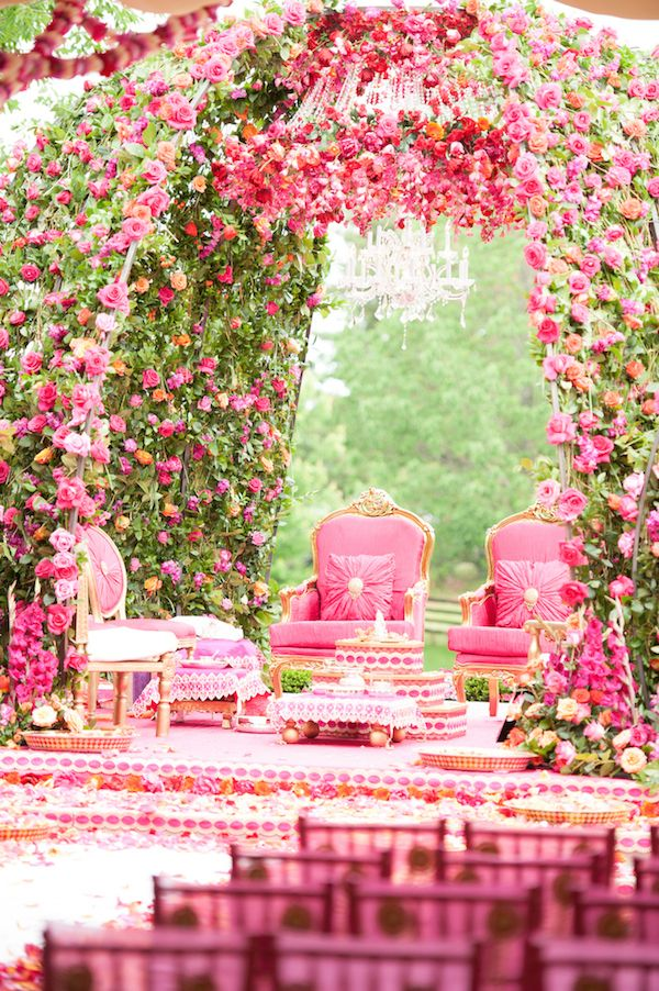 Amazingly beautiful floral mandap design