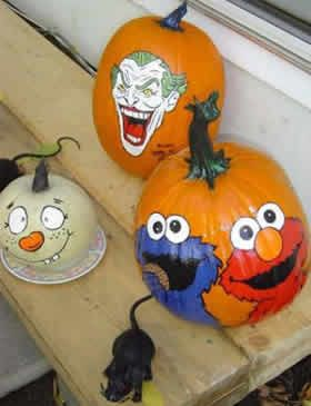 TagYerit Presents Painted Pumpkins Good Site For Pumpkin Painting I Paint Them Every Year With My Kids And Then Do Fancier Ones Too