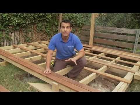 how to build a deck framing beamjoistsledger youtube