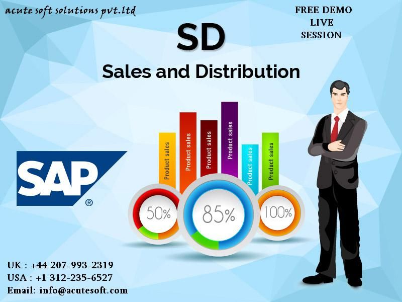 Acutesoft  provides a job oriented, SAP SD online training.SAP SD training provides you everything to learn about SAP SD implementation and end user level process step by step with various screen shots.