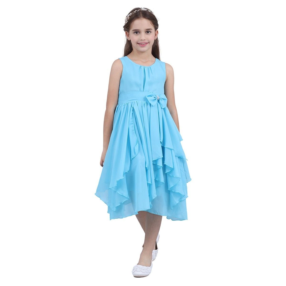 iEFiEL Party Dresses for Girls Princess Pageant Wedding Bridesmaid ...